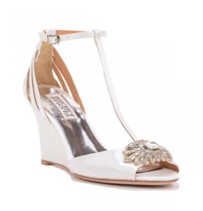 Milly T-Strap Wedge Evening Shoe
